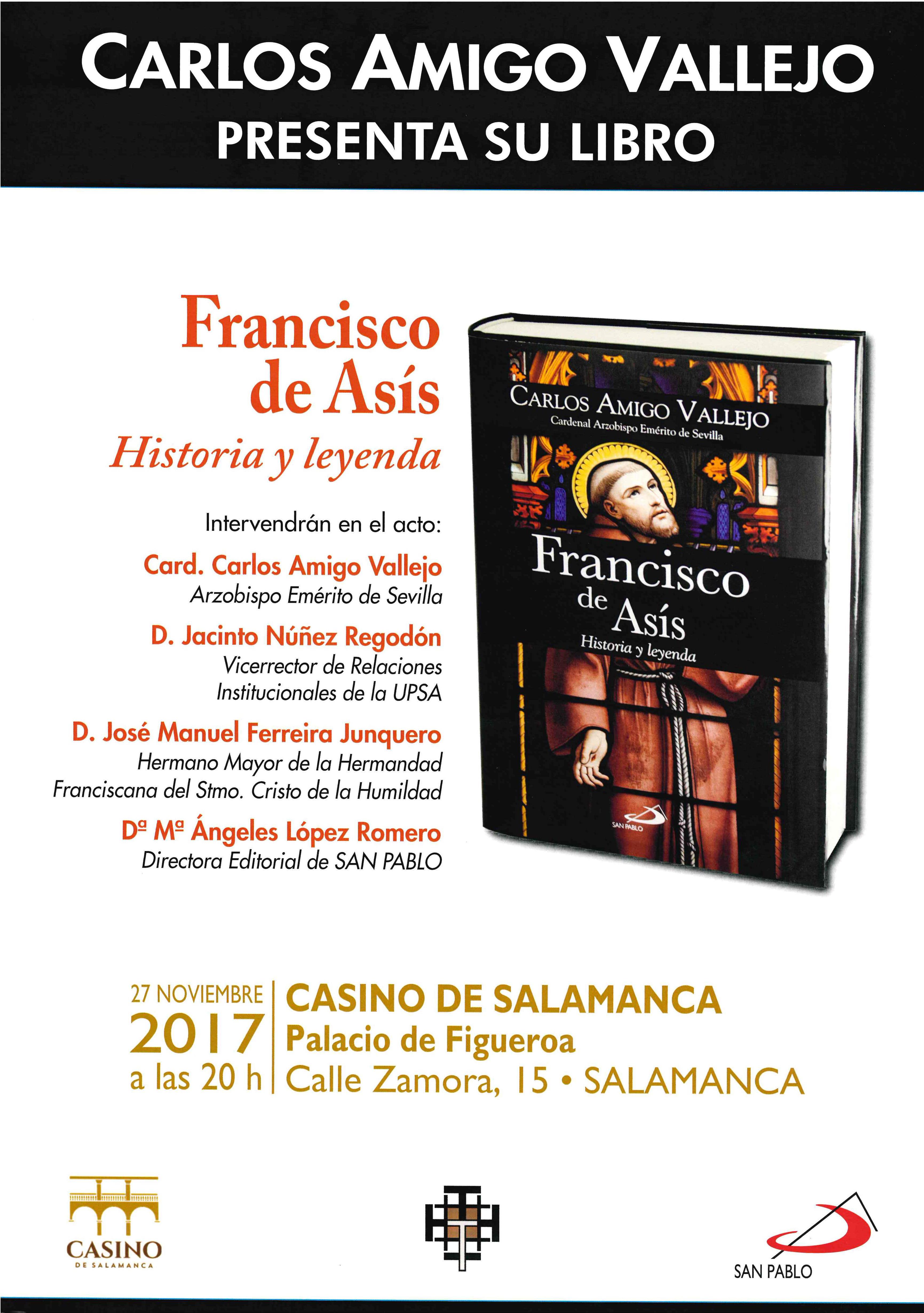"""PRESENTACIÓN DEL LIBRO """"FRANCISCO DE ASÍS"""""""