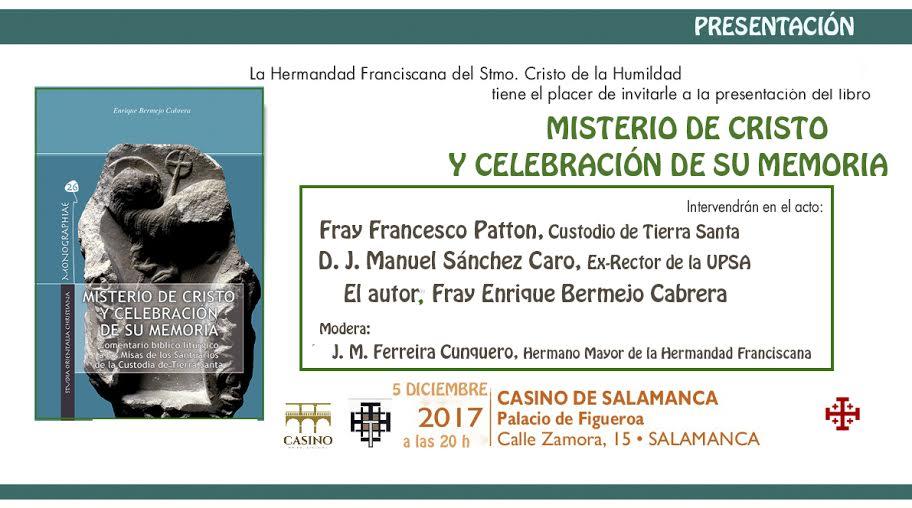 PRESENTACIÓN DEL LIBRO: 'MISTERIO Y CELEBRACIÓN DE SU MEMORIA'