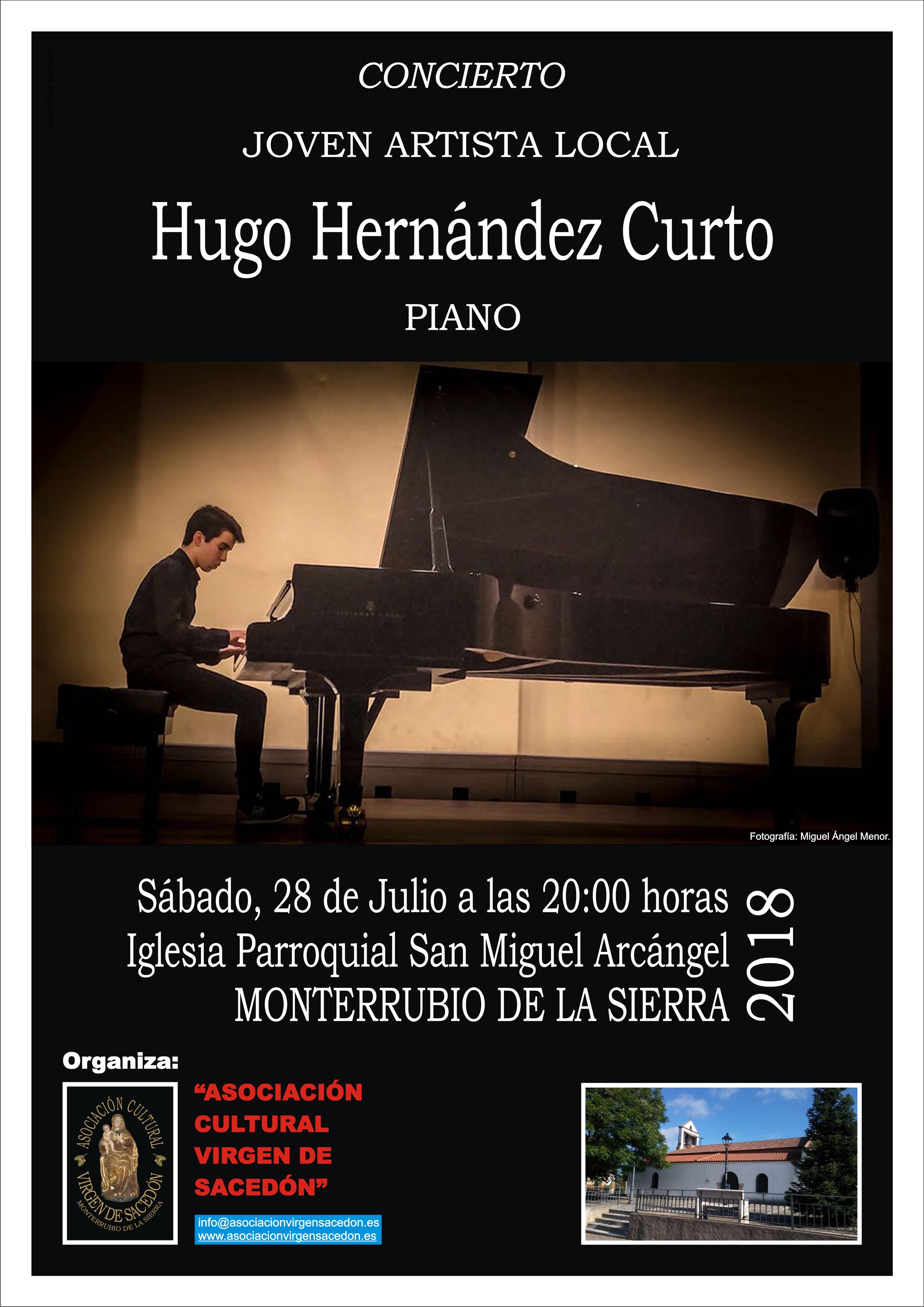 HUGO HERNÁNDEZ OFRECE UN RECITAL DE PIANO EN LA IGLESIA DE MONTERRUBIO DE LA SIERRA