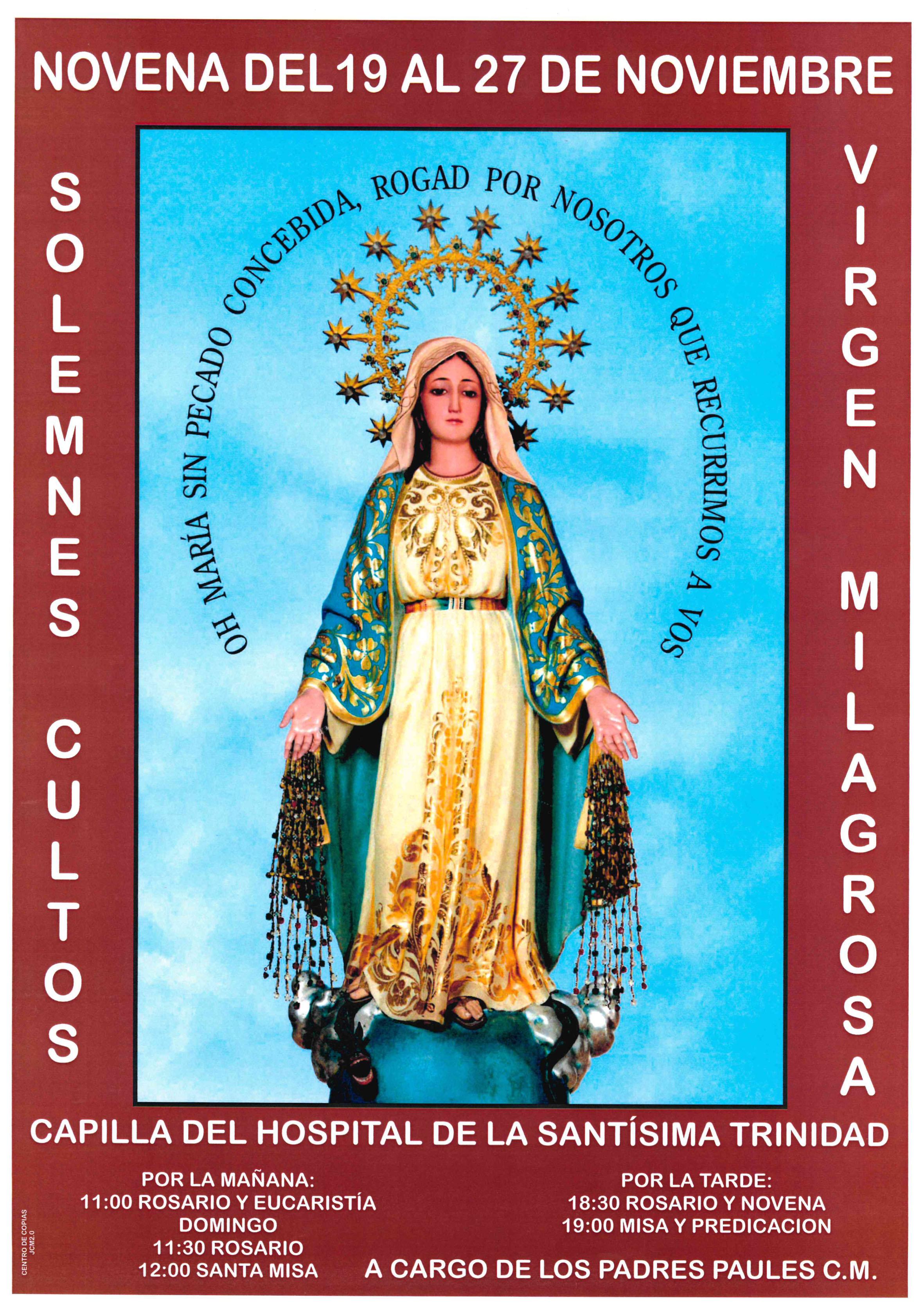 Novena a la Virgen Milagrosa