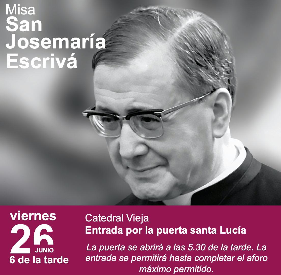 Misa de acción de gracias por la vida de San Josemaría Escrivá